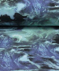 golven blauw groen softshell waves