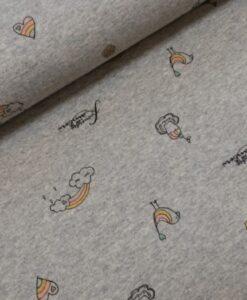 regenbogen ijsjes biologische katoenen tricot Juna Kombi Lillestoff