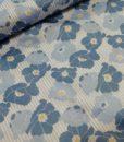bloemen blauw geel wit katoen denim days milliblus