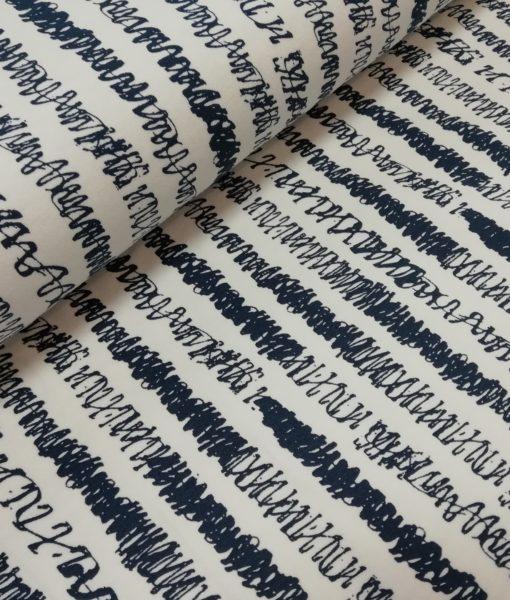 gekraste strepen blauw wit sweattricot ilja fabrics scribed stripes
