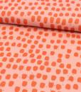 vlekkernroze oranje glitter katoenen tricot momo lillestoff