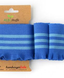 cuff me this summer frill blauw lichtblauw boord hamburger liebe albstoffe