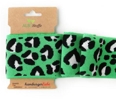 cuff me this summer icon luipaard groen zwart boord hamburger liebe albstoffe