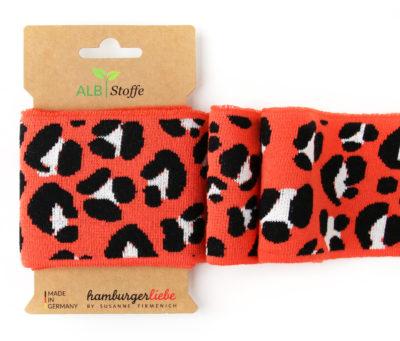 cuff me this summer ico luipaard oranje zwart boord hamburger liebe albstoffe