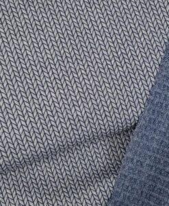 albstoffe bog knit relief jacqard tricot grijs blauw