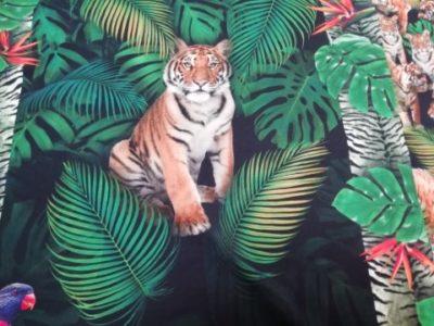tijger paneel digitale tricot Qjutie