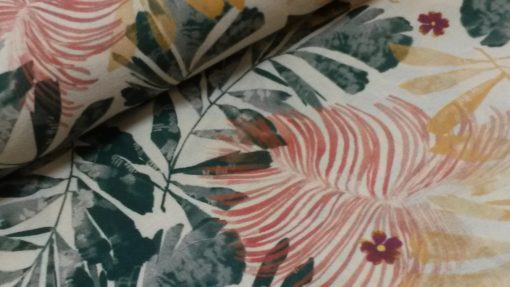 la maison victor jungle roze groen katoen cacao jurk