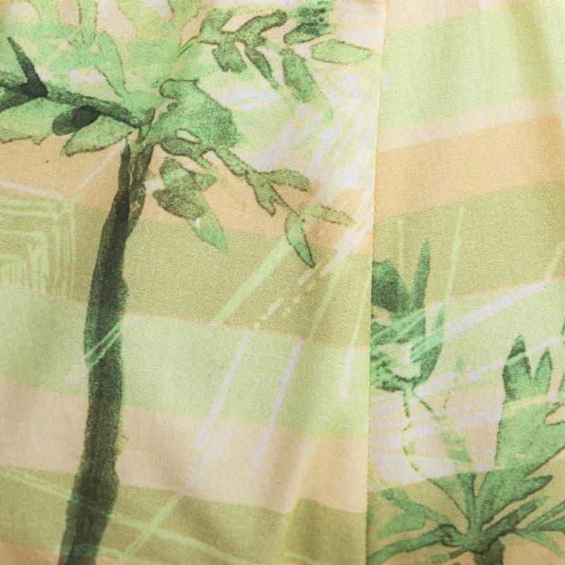 la maison victor palmen geel groen katoen faros short