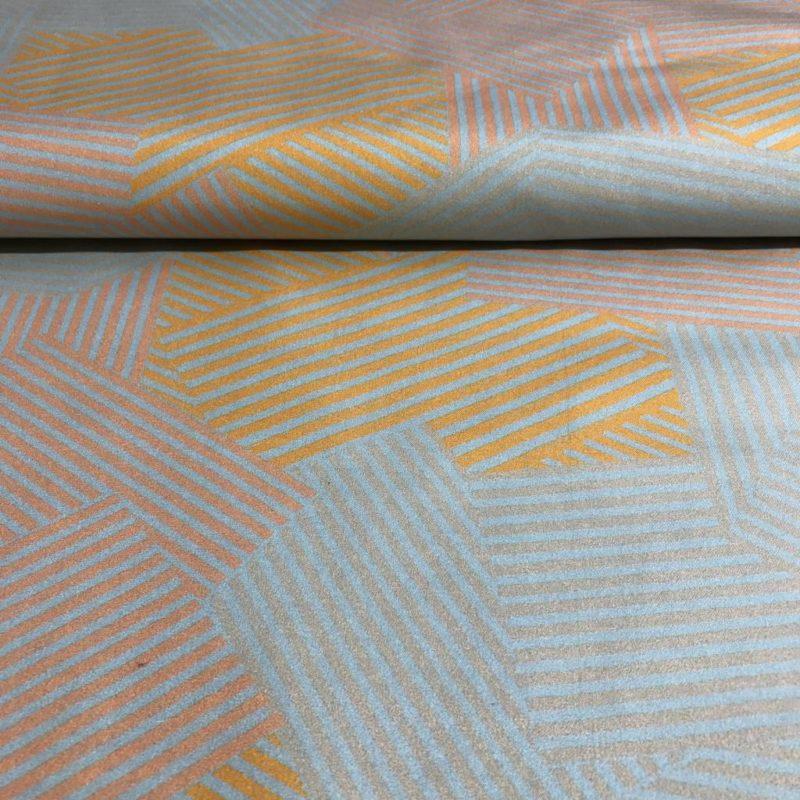 satijnkatoen eometrische print goa jurk