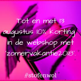 korint in webshop stof&wol vakantie 2018