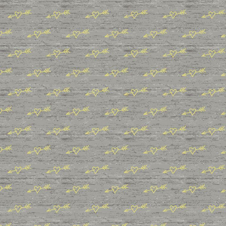 hartjes glow in the dark grijs katoenen tricot