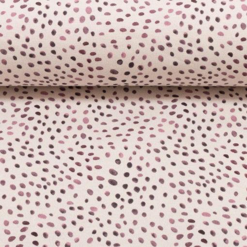 Stipjes paars ecru katoenen tricot mini winter