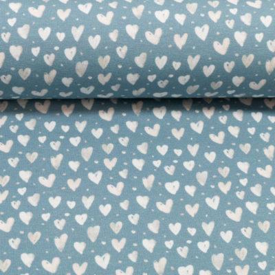 hartjes blauw ecru tricot mini winter