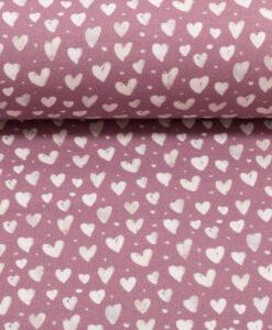 hartjes roze ecru tricot mini winter swafing