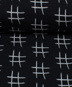 tricot hashtag zwart wit jolijou swafing