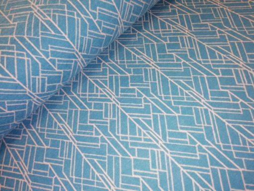 geometricsche lijnen grijsblauw roze jacquardtricot darling
