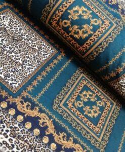 versace print panter stevige viscose tricot haute couture print