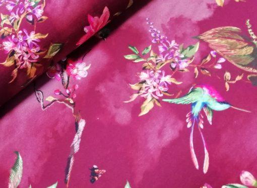 digitale tricot stiched birds bordeaux