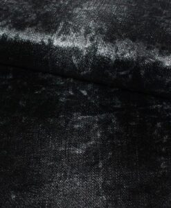 stretch velvet fluweel denim look zwart knippie