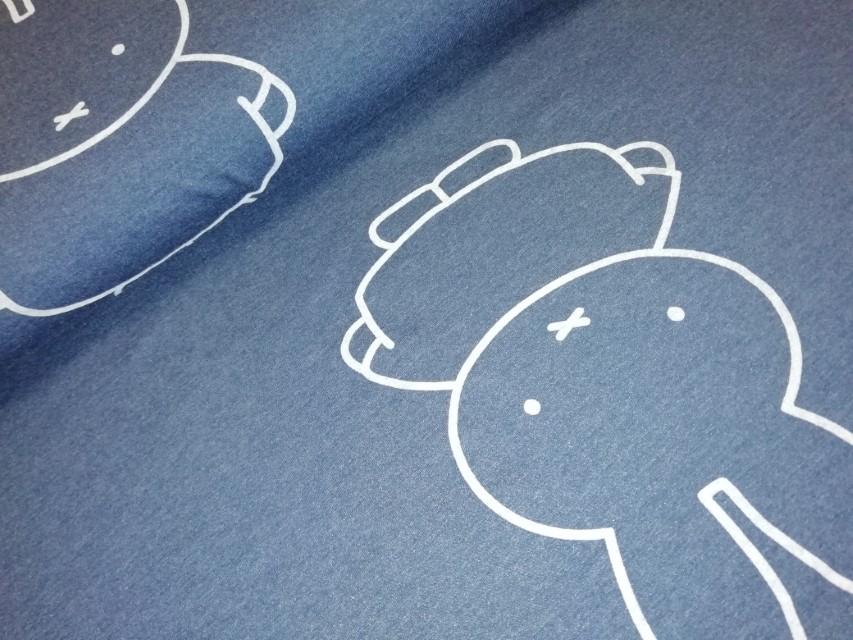 nijntje gtoot joggin gemeleerd blauw Miffy big