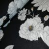 bloemen wit zwart oker scuba crepe