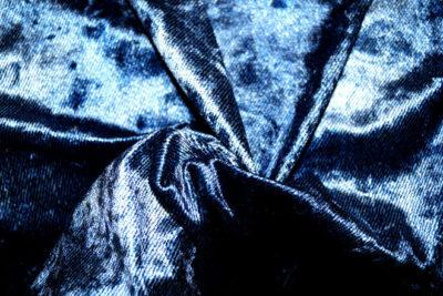 stetch fluweel velvet denim look blauw