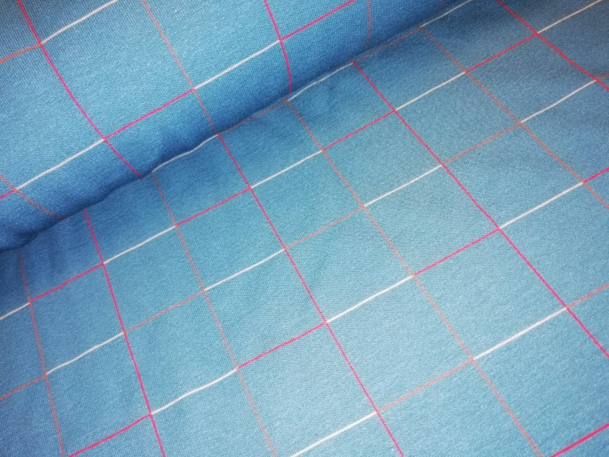 squares indian teal french terry lotte martens