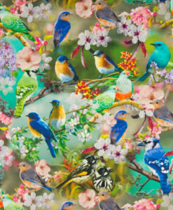 digitale tricot Qjutie tropical birds