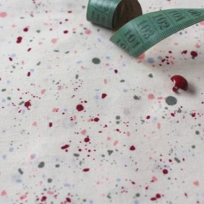 atelier brunette katoenen voile gauze terrazzo shell