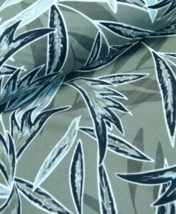knipidee scuba crepe vivaldi leaves groen blauw