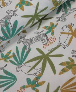 le tissu katoenen triicot zebra tijgers jungle