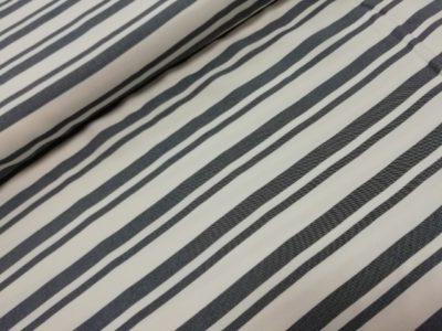 fibre mood viscose streep jeansblauw wit vienna jurk dress