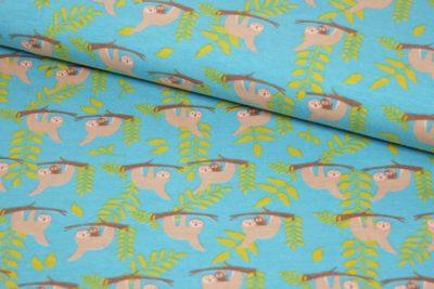 luiaard blauw groenkatoenen tricot sam
