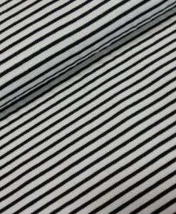 strepen smal zwart wit katoenen tricot