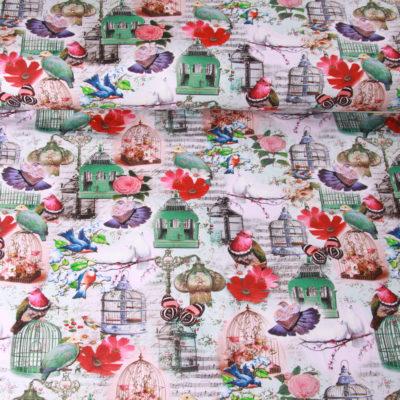 Qjutie digitale tricot romantic birdcages