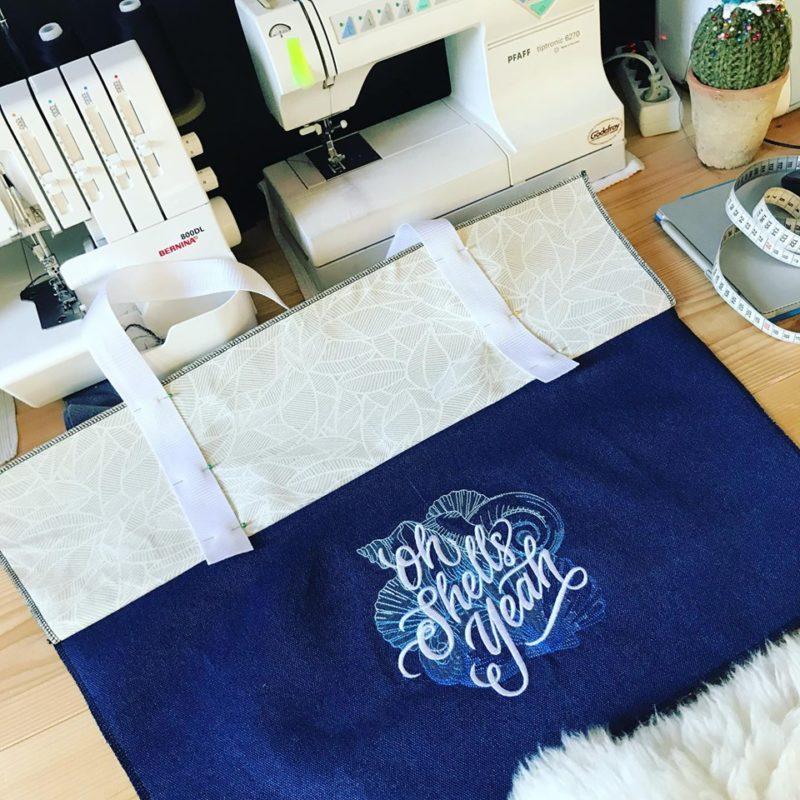 workshop strandtas maken naaien in de zomer