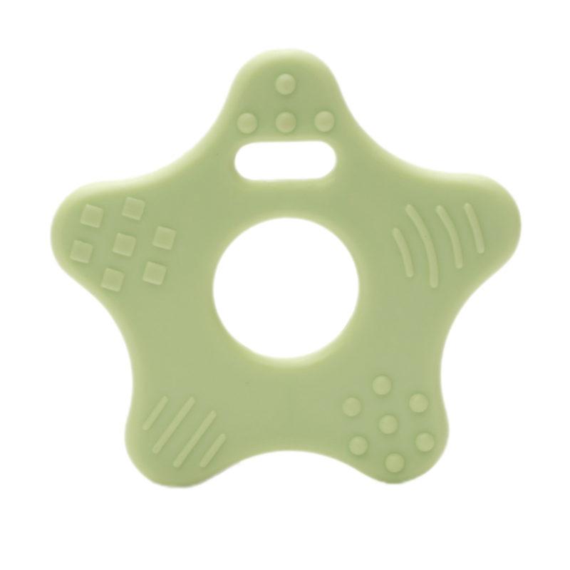 kunststof bijtring durable ster groen