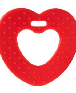 kunststof bijtring durable hart rood