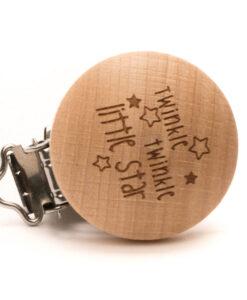 durable houten speenclip twinkle twinkle little star