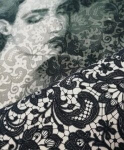 stenzo paneel dame met kant katoenen tricot