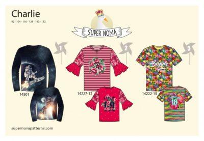 supernova charlie patroon t-shirt