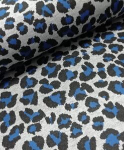 Jacquard tircot Coloured Panther blauw Knipidee