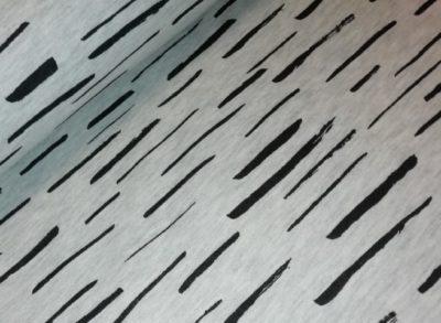 french terry burshed stripes grijs zwart knipidee