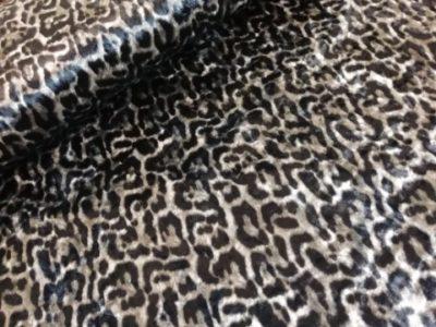 stetchfluweel luipaard grijs zwart Velvet Panther Knipidee