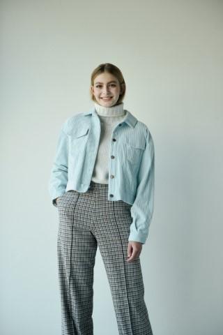 drew jas lichtblauw