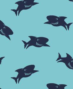 softshell poppy haien sharks aqua donkerblauw