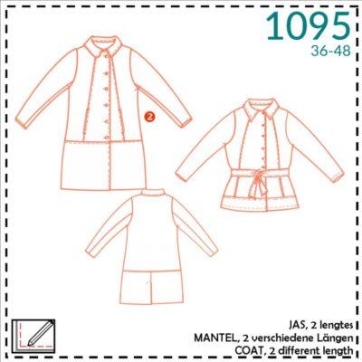 itsafits 1095 lang of kort model jas voor dames