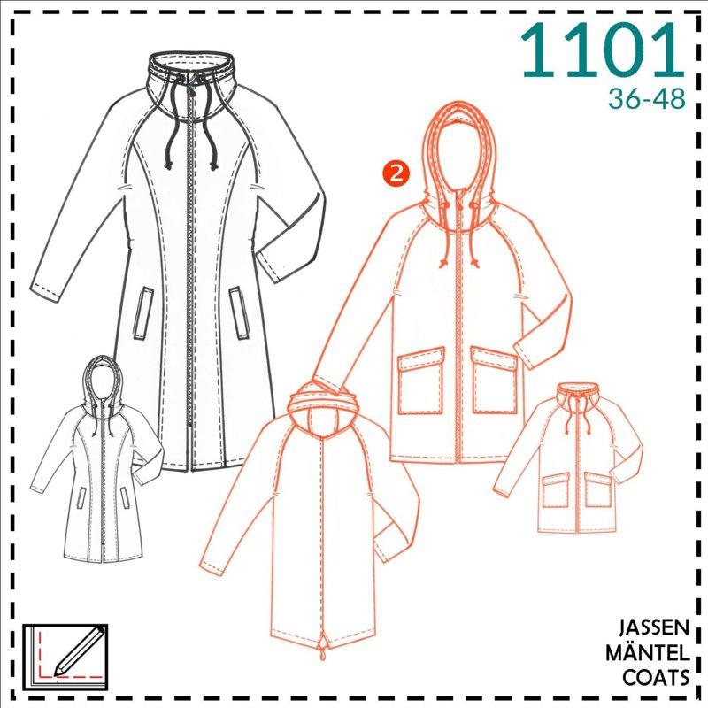 Itsafits patroon 1101 winter of regenjas Stof&Wol