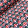 softshell retro blauw rood knipidee
