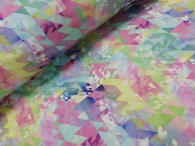 softshall grafisch pastel mint poppy